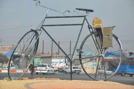 اشتباه شهرداری بناب در طراحی نماد دوچرخه
