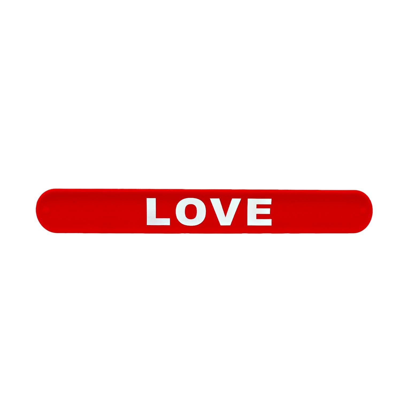 دستبند ضربهای Love قرمز