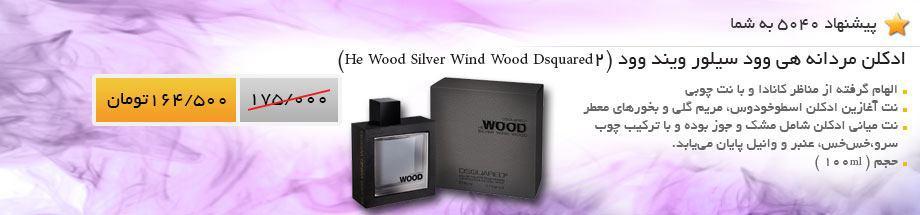 ادکلن مردانه هی وود سیلور ویند وود (Dsquared2 He Wood Silver Wind Wood)