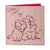 کارت تبریک گربه سایمونی چوبیتا طرح 6