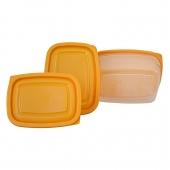 ظروف فریزری مستطیل 6 پارچه زرد