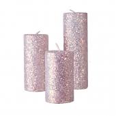 شمع استوانهای اکلیلی هفت رنگ 3 سایز