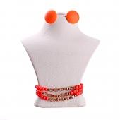 ست گوشواره و دستبند نارنجی