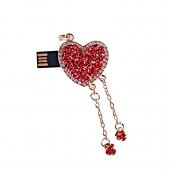 فلش مموری طرح قلب گل قرمز آویزدار 8GB