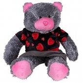 عروسک خرس میتیو لباسدار طوسی