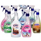 بسته محصولات تمیز کننده لوازم خانگی csp هشت عددی