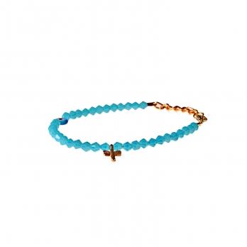 دستبند نازک آبی کمرنگ