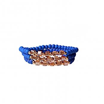 دستبند بلند تک آبی کاربنی