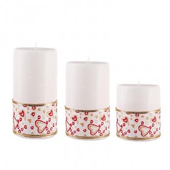 شمع گرد با روبان 3تایی