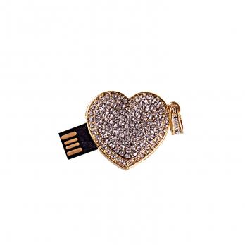 فلش مموری قلب طلایی نگیندار 8GB