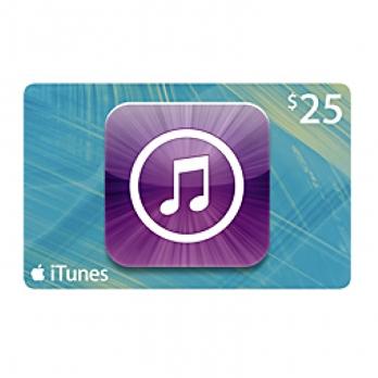 کارت هدیه iTunes 25$