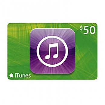 کارت هدیه iTunes 50$