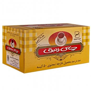 چای کیسهای طلایی عطری 50 عددی زنبق