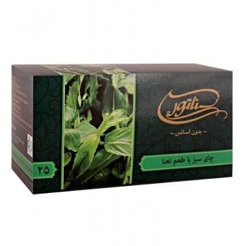 چای سبز کیسهای سناتور با ترکیب نعناع 25 عددی