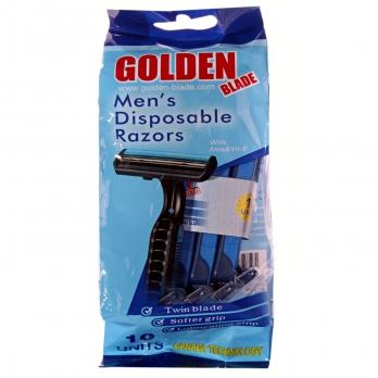 ژیلت Golden Blade تکنولوژی کانادا پفکی ده عددی مردانه دو لبه صابون دار