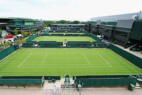 زمین چمن تنیس
