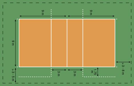 زمین بازی والیبال