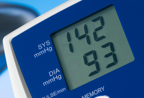 Monitor Showing Blood Pressure