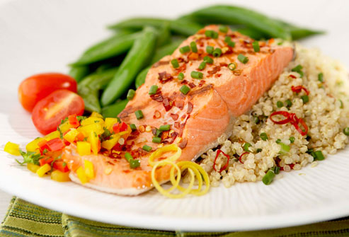 Grilled Salmon And Quinoa Pilaf