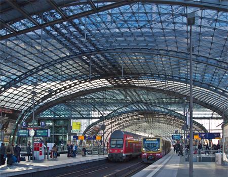 ایستگاه Hauptbahnhof  برلین، آلمان