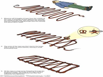 ساخت برانکارد با طناب